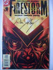 DC Firestorm #1 DF Signed Dan Jolley COA Ltd 999